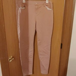 Like new Lei Dusty Rose skinny jeans size 17